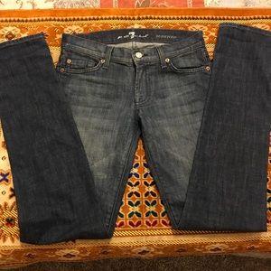 7 For All Mankind Roxanne Skinny leg jeans sz 25